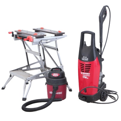 Black & Decker Workmake Project Center with Husky Powerwasher and Shop-Vac