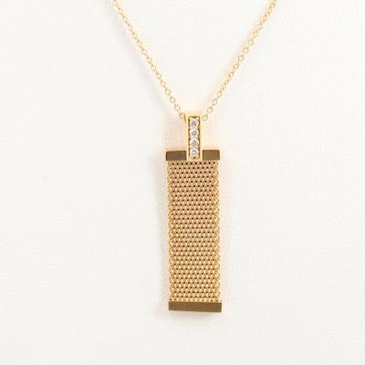 "Tiffany & Co. ""Somerset"" 18K Yellow Gold Diamond Pendant Necklace"