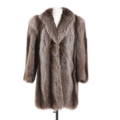 Full Pelt Raccoon Fur Stroller, Vintage