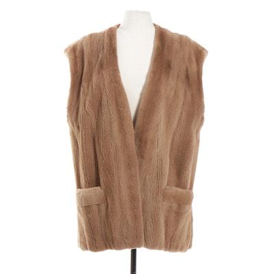 Sheared Mink Fur Vest from Pelzmoden Bisegger, Vintage