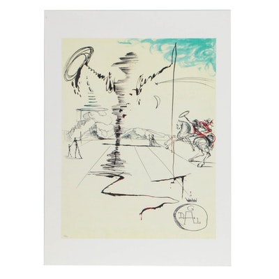"Giclée after Salvador Dalí ""Don Quixote Chevalier"""