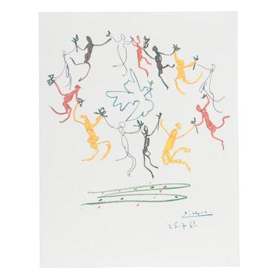 "Offset Lithograph after Pablo Picasso ""Le Rhonde"""
