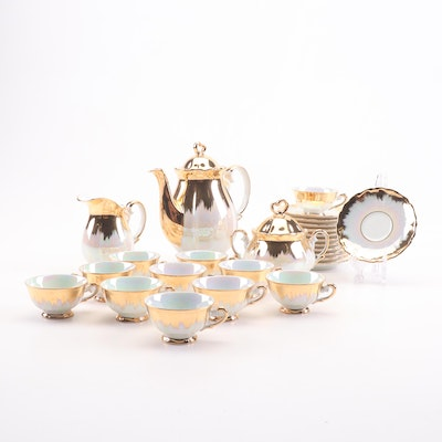 Bavarian Pearlized Porcelain Tea Set