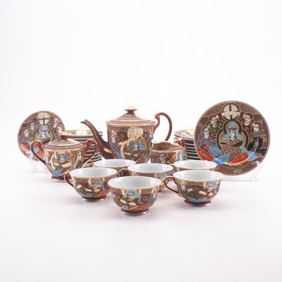 Japanese Satsuma Hand Painted Tea Set
