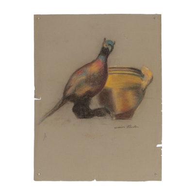 Xavier J. Barile Pastel Still Life Drawing