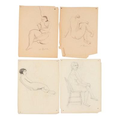 Xavier J. Barile Charcoal Figural Studies
