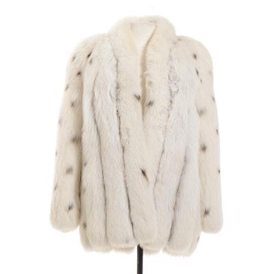 Lynx Dyed Fox Fur Jacket, Vintage