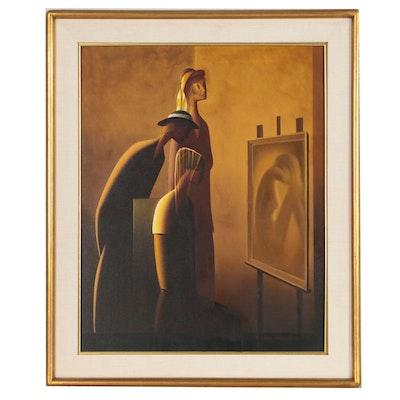 Drago Ivanišević Figural Oil Painting