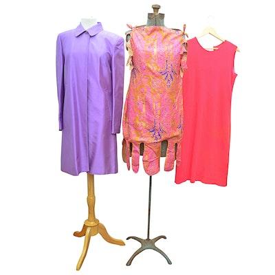 De Loux Cashmere Dress, Handmade Silk Dress, and Ann Taylor Silk Coat