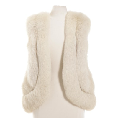 Blue Fox Fur Open-Front Vest from Sam Bifano Furs of Dallas