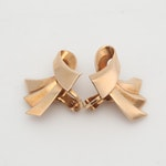 14K Yellow Gold Trabert Hoeffer Mauboussin Earrings, Circa 1940