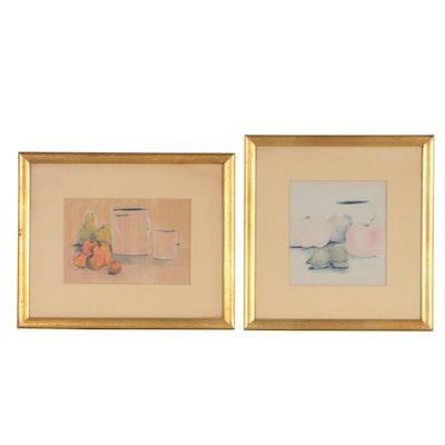 J. Carson Still Life Pastel Drawing