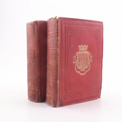 "1867 French Language ""Paris Guide"" Two Volume Partial Set"