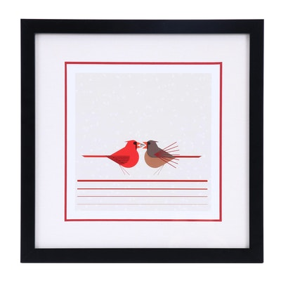 """Offset Lithograph After Charley Harper """"Beguiled by the Wild"""""""