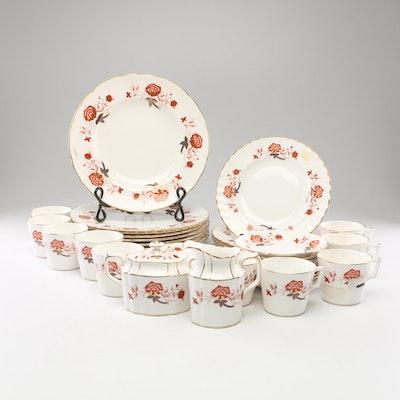 "Royal Crown Derby ""Bali"" Porcelain Dinnerware, Mid-Century"