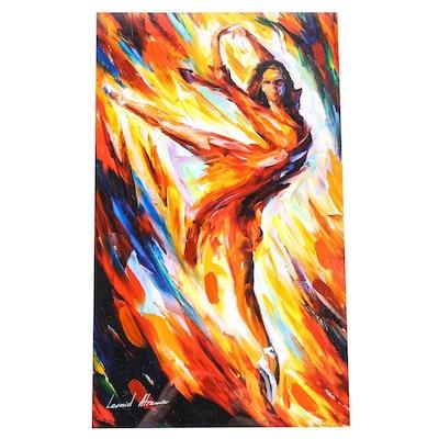 "Leonid Afremov Hand Embellished Giclée ""Passion and Fire"""
