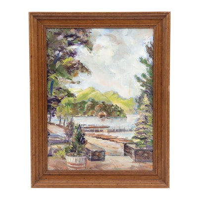 E. A. Jennings Landscape Oil Painting
