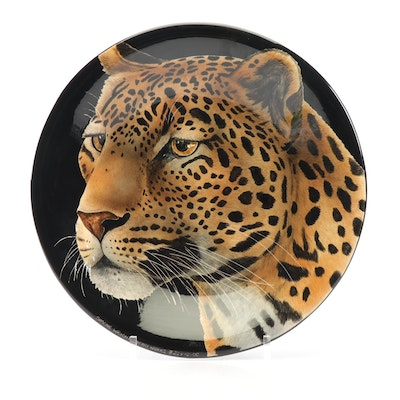 Simone Wright Safari Works Leopard Platter