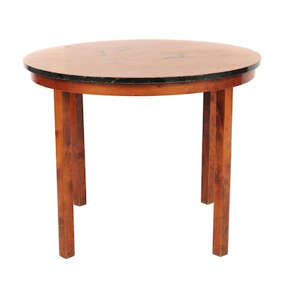 Swedish Art Deco Accent Table with Inlay, Late 19th, Early 20th Century