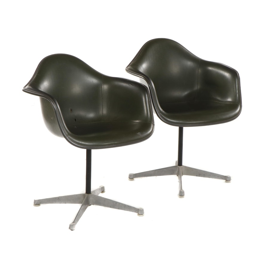 Charles and Ray Eames for Herman Miller Upholstered Fiberglass Chairs