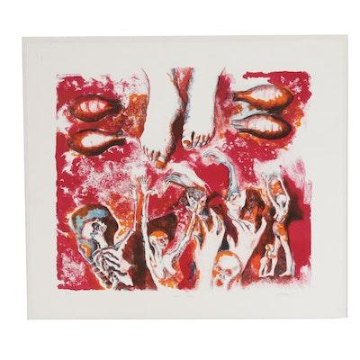 "Joan Tallan Serigraph ""Hiroshima"""