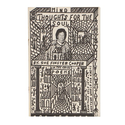 "Sue Finster Cooper ""Thoughts for the Soul"" with Cover Design by Howard Finster"