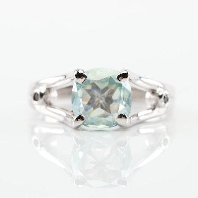 Sterling Silver Moissanite Ring