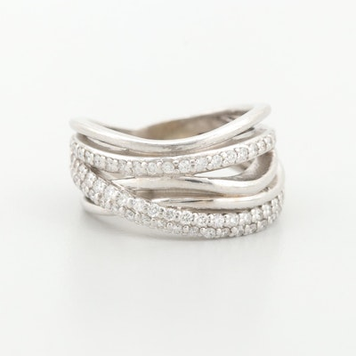 14K White Gold Diamond Multi-Band Ring