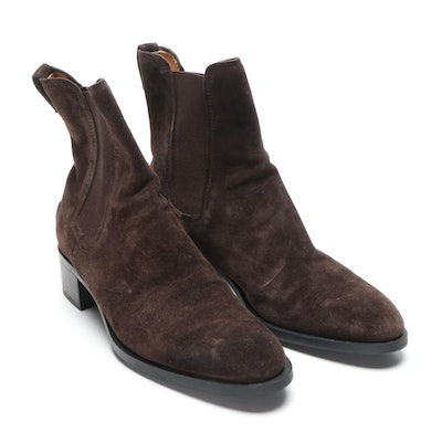 Women's Tod's Brown Suede Chelsea Boots
