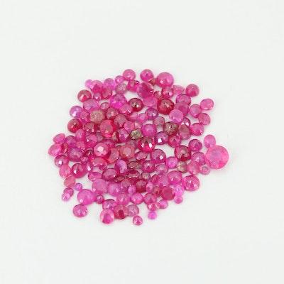 Loose 14.11 CTW Ruby Gemstones