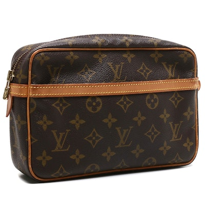 Louis Vuitton Paris Monogram Canvas Compiegne Toiletry Bag