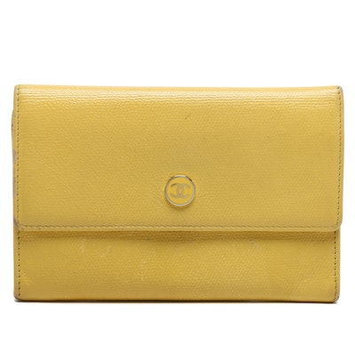 Chanel Yellow Leather Wallet