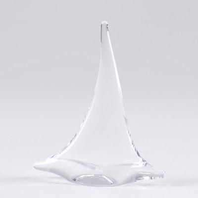 Simon Pearce Art Glass Sailboat Figurine