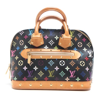 Louis Vuitton Monogram Multicolore Noir Alma Satchel