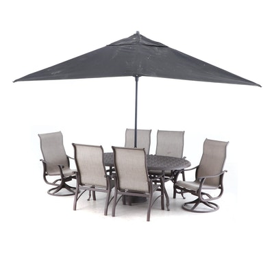 Patio Dining Set with Six Chairs