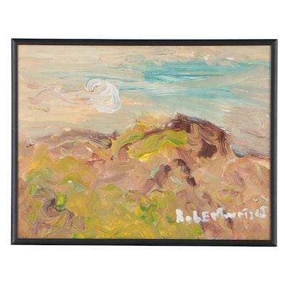 Robert Wright Acrylic Folk Landscape Painting