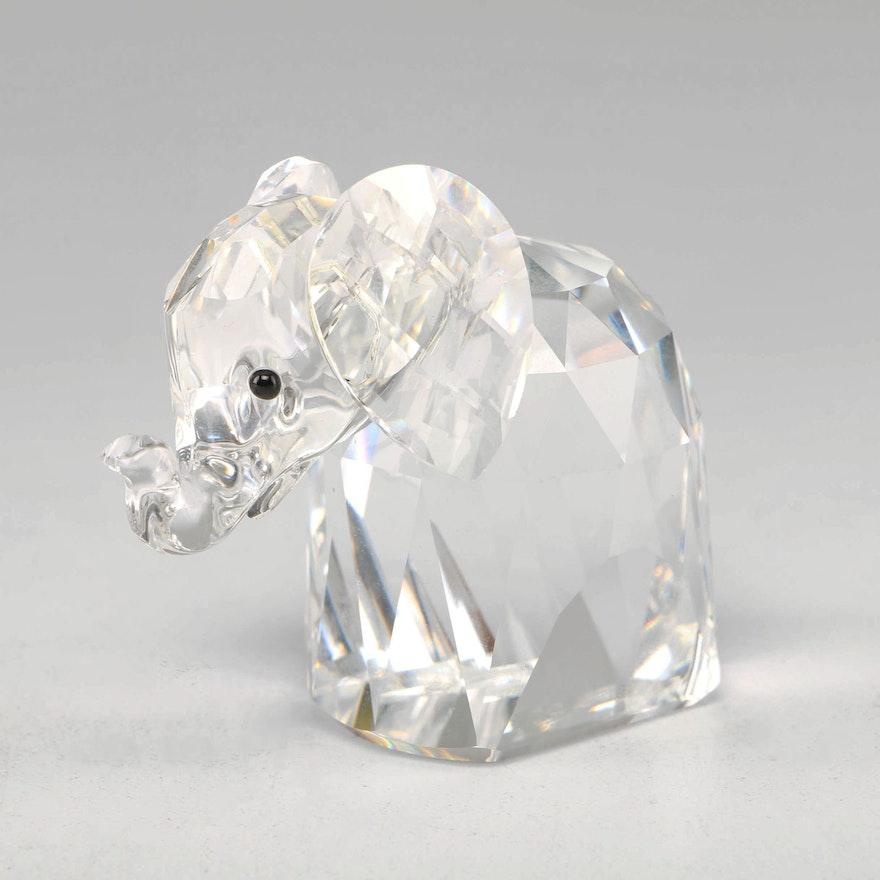 Swarovski Crystal Elephant Figurine