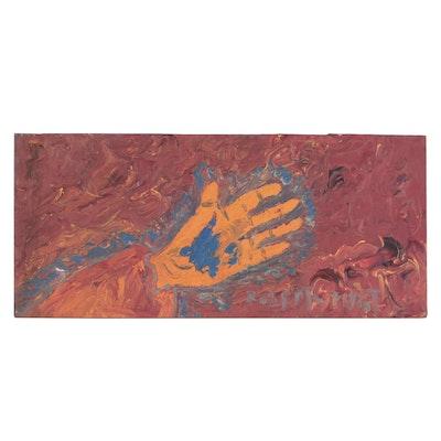 Robert Wright Folk Art Acrylic Painting of Stigmata