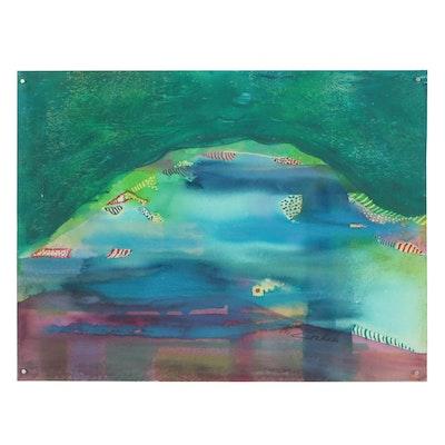 Kathleen Zimbicki Abstract Gouache Painting