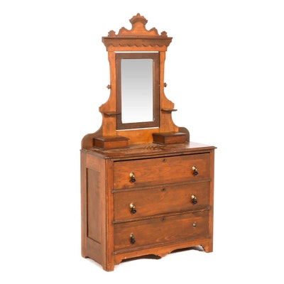 Late Victorian Dresser and Mirror