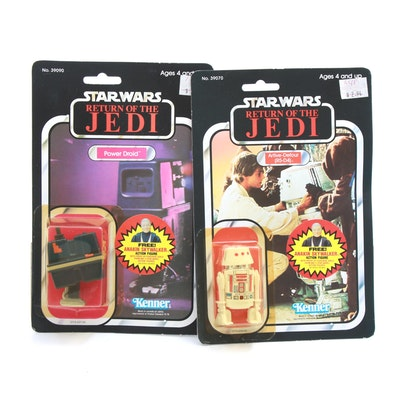 """1984 """"Star Wars: Return of the Jedi"""" R5-D4 and Power Droid Action Figures"""