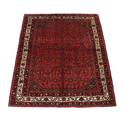 5.2' x 6.3' Hand-Knotted Persian Malayer Rug, Circa 1970s
