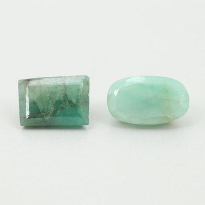 Loose 3.52 CTW Emerald Gemstones