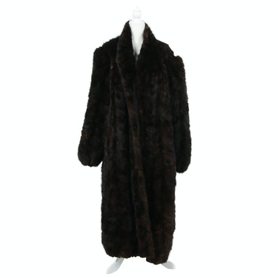 Men's Mink Paw Fur Coat, Vintage