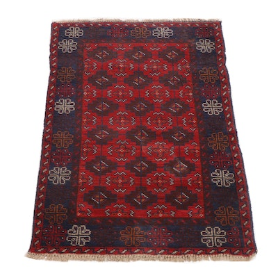 Hand-Knotted Persian Beshir Wool Rug