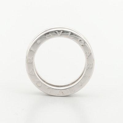"Bulgari ""B.ZERO1"" 18K White Gold Ring"