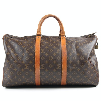 Louis Vuitton Paris Monogram Keepall Duffle Bag