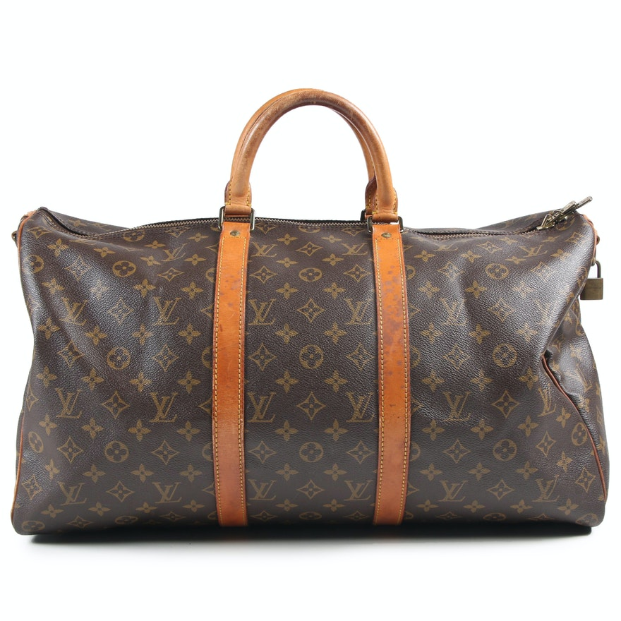Louis Vuitton Paris Monogram Keepall Duffle Bag