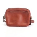 Coach Lewiston Saddle Brown Leather Crossbody Bag