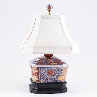 Japanese Imari Ceramic Table Lamp